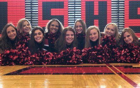 The senior cheerleaders