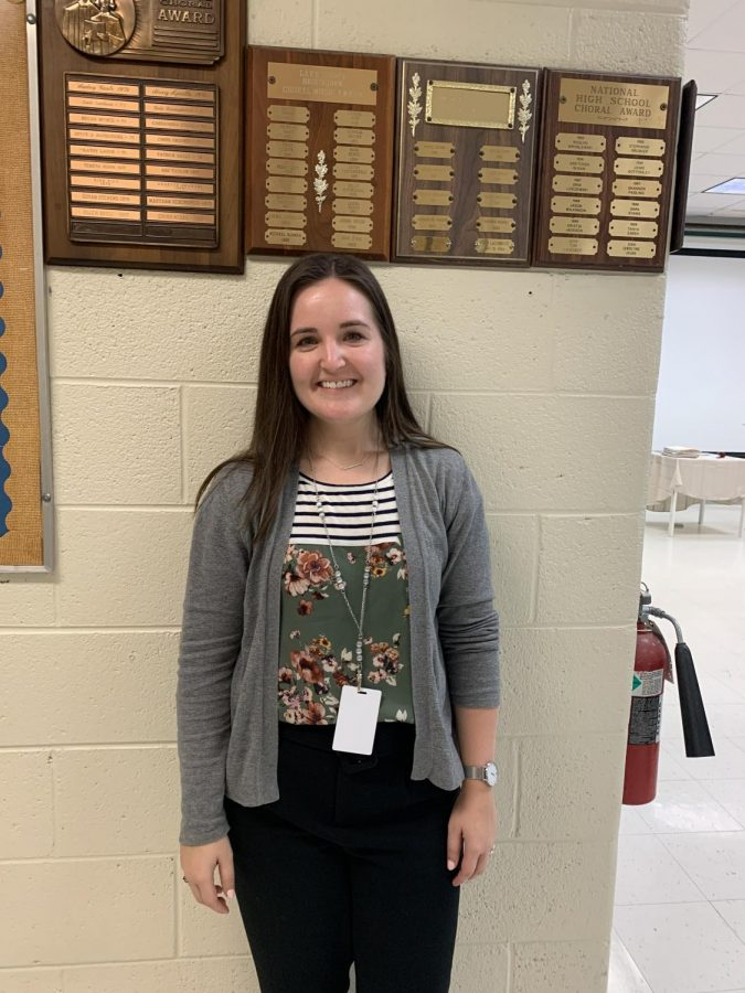 Lake Shore High School new choir director, Kelsey Elkins