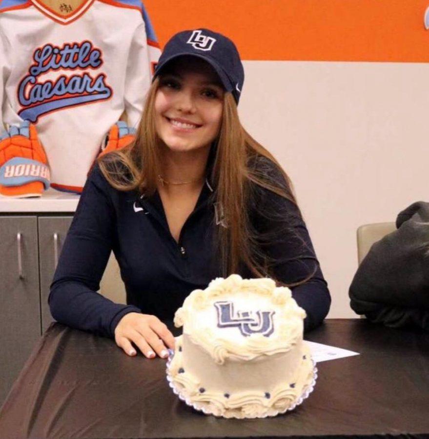 Katie Jablynski on signing day.