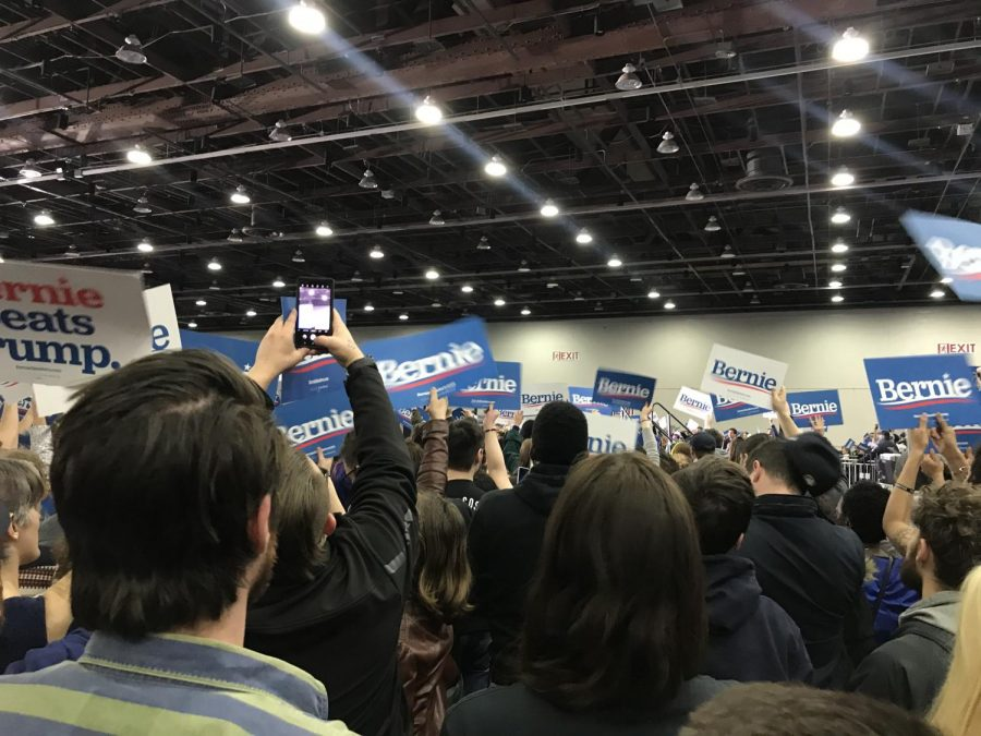 Bernie Sanders rally on Friday, March 6th at TCF Hall in Detroit, MI.